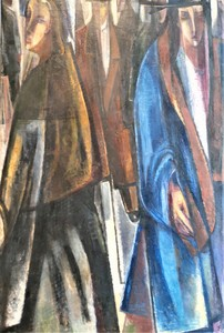 Ernst WOLFHAGEN - Gemälde - Passanten