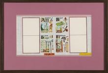 "Ilya KABAKOV - Dessin-Aquarelle - ""ABC..."" sketch illustration of the book ""ABC..."""