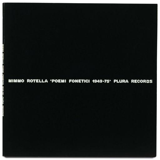 Mimmo ROTELLA - Audiovisual-Multimedia - Poemi fonetici