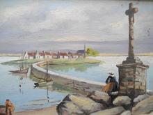 René HUCHET - Painting - Dans le Morbihan.