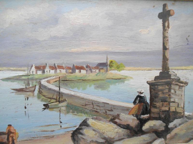 René HUCHET - Peinture - Dans le Morbihan.