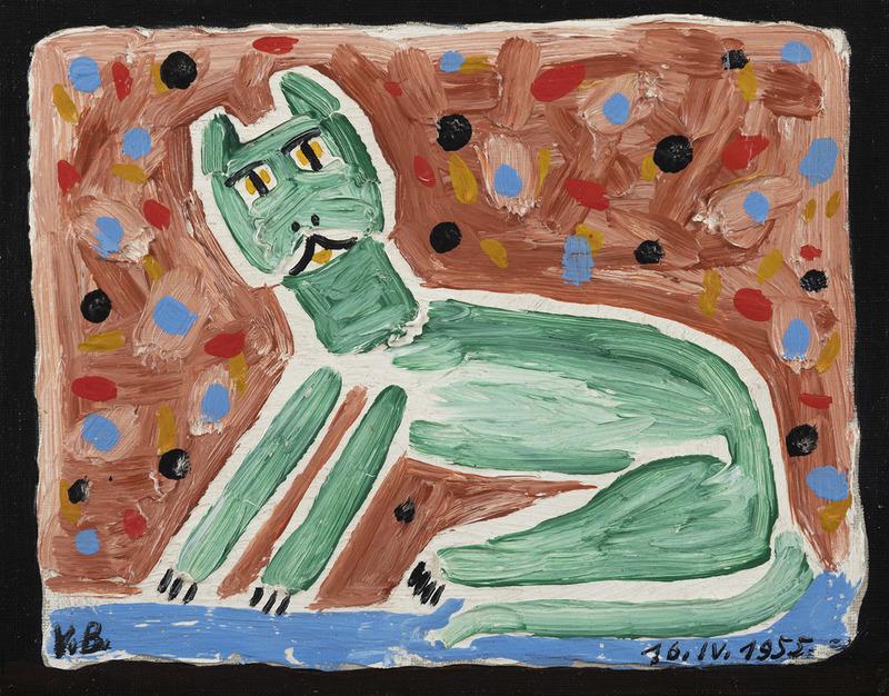 Victor BRAUNER - Pintura - Le chat
