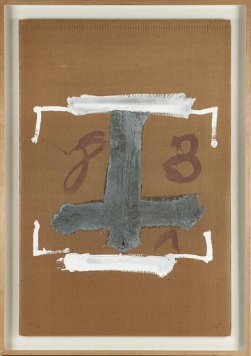 Antoni TAPIES - Stampa-Multiplo - Blanc i creu grisa