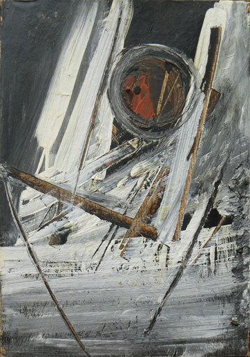 Piero RUGGERI - Painting - Uomo e paesaggio
