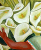 Armando CAMPERO - Painting - Orchids, Oil on canvas, Mexican 20th Century, Diego Rivera
