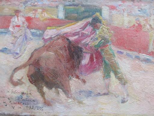 Vicente DE PAREDES - Painting - Corrida