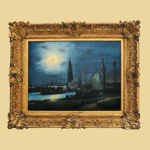 Johan-Barthold JONGKIND - Gemälde - Night in Rotterdam