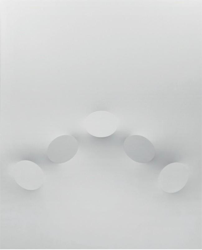 Turi SIMETI - Painting - 5 ovali binachi