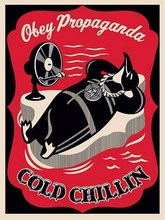 """Shepard FAIREY - Radierung Multiple - """"Cold Chillin"""" (red)"""