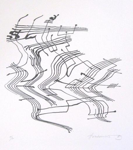 Roman HAUBENSTOCK-RAMATI - Grabado - Alea-Portfolio mit 15 Originalserigraphien