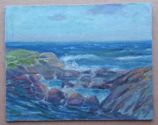 Dorothy R. WILSON - Painting - Sea and Rocks