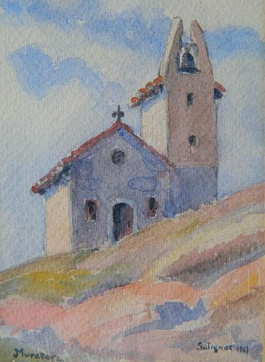 Jean MURATORE - Dibujo Acuarela - PAYSAGE - LANDSCAPE - SALIGNAC -PROVENCE