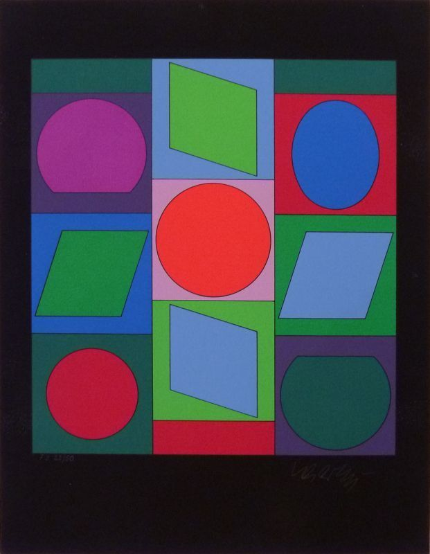 Victor VASARELY - Estampe-Multiple - Sans titre