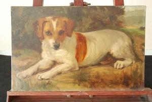Joaquín SOROLLA Y BASTIDA, perro familiar o perrito de familia