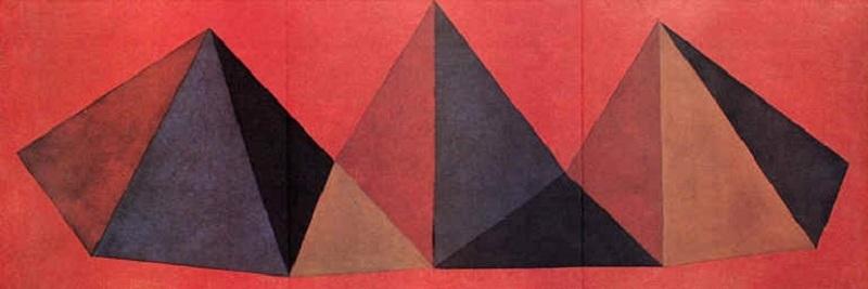 Sol LEWITT - Stampa-Multiplo - Piramidi IV