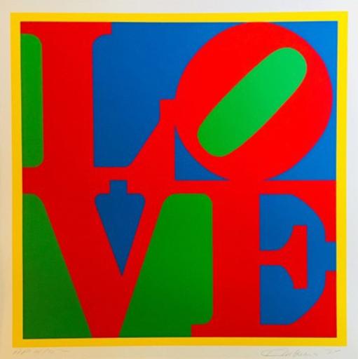 Robert INDIANA - Estampe-Multiple - Heliotherapy Love