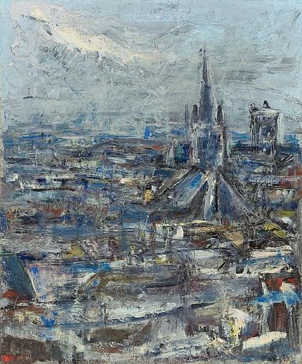 Erich SCHMID - Pintura - Paris, Notre Dame
