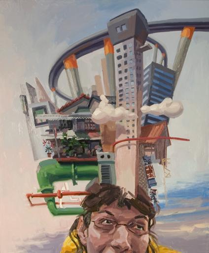 Benjamin DUKE - Peinture - Imaginary cities