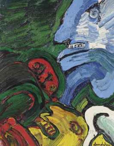 Bengt LINDSTRÖM - Painting - Bleu Troll