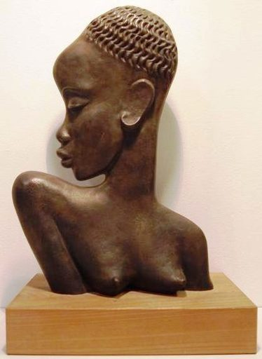 Franz HAGENAUER - Sculpture-Volume - c.1950 Bust of an African woman