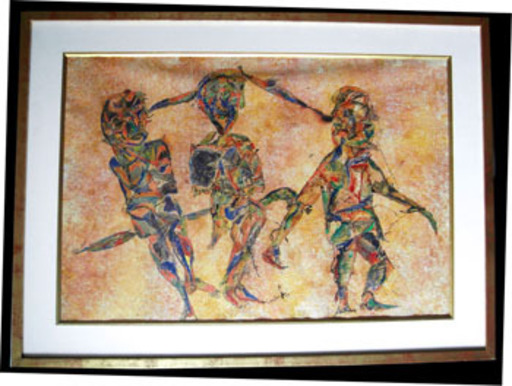 Charles Keeling LASSITER - Drawing-Watercolor - Arlequins