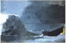 Georges BRAQUE - Estampe-Multiple - Marine Noire,M. 1044