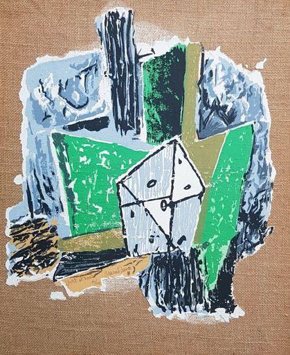Marcel JANCO - Gemälde - Noir et Vert (Black and Green)