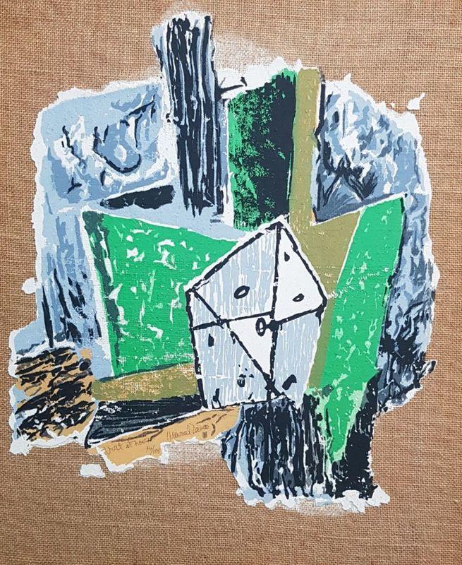 Marcel JANCO - Pittura - Noir et Vert (Black and Green)