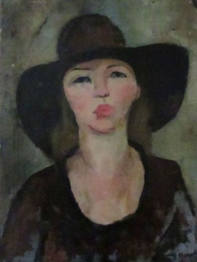 Genia BERGER - Pintura - Woman with a Hat