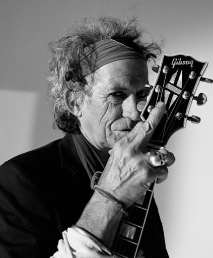 Lorenzo AGIUS - Photography - Keith Richards with Guitar