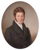 """Emanuel Thomas PETER - Miniatur - """"Portrait of a Gentleman"""", Large Miniature, 1856"""