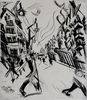Ludwig MEIDNER - Print-Multiple - Street in Wilmersdorf, from: The Creators