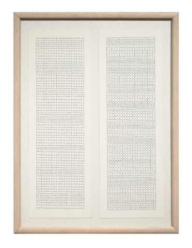 DADAMAINO - Drawing-Watercolor - L'Alfabeto della mente. Lettera 1-2-3-4-5-6-7-9-10-11-12-13