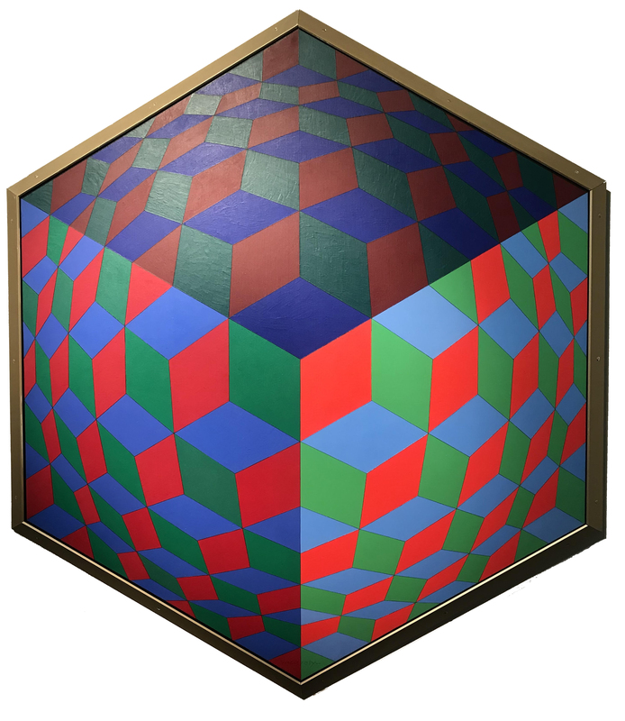 Victor VASARELY - Painting - Hat - VI