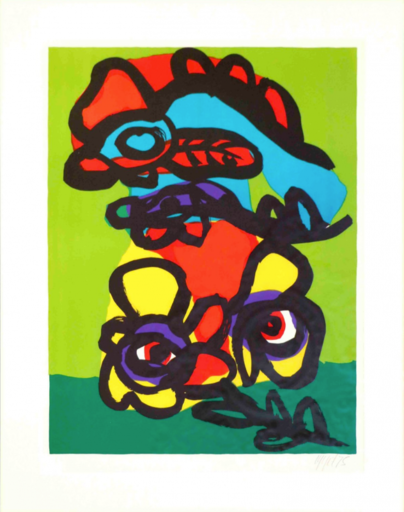 Karel APPEL - Estampe-Multiple - Personnages