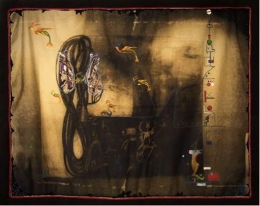Isabelle ANSELOT - Tapestry - Réécriture