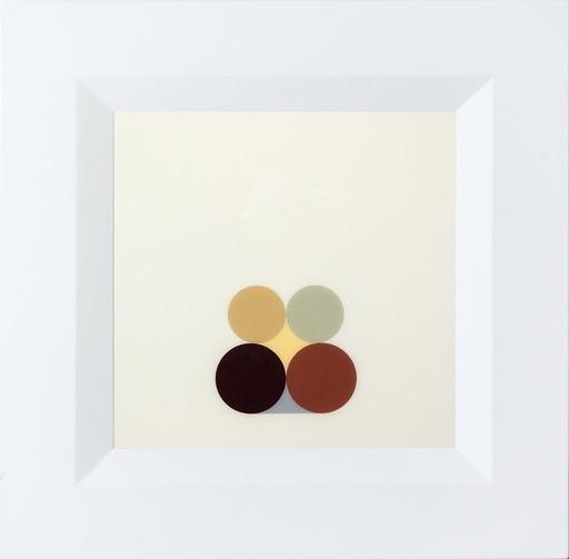 David CANTINE - Painting - Still Life Maroon and Green