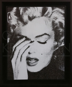 Russell YOUNG - Painting - Marilyn Crying (dove wihte)