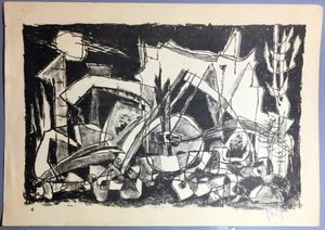Marcel JANCO - Print-Multiple - Landscape, circa 1950