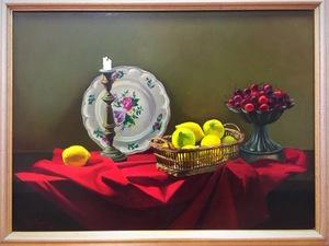Henri F. JANNOT - Painting - nature morte aux citrons