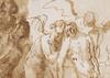 Mateo II CEREZO - Drawing-Watercolor - La Lamentación.