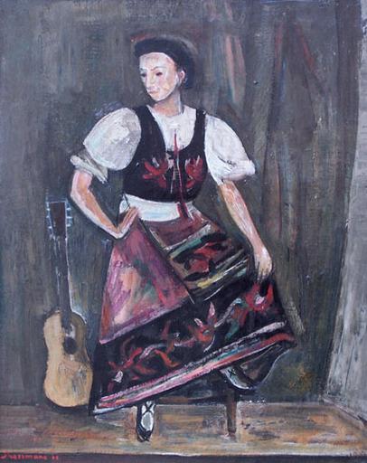 Joseph PRESSMANE - Painting - Ukrainian Folk Dancer