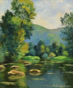 Paul Émile PISSARRO - Peinture - Les Pierres dans l'Orne