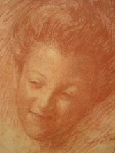 Léon DETROY - Drawing-Watercolor - PORTRAIT DE   JEUNE  LIMOUSINE