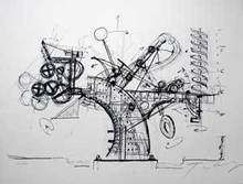 Jean TINGUELY - Estampe-Multiple - Chaos II