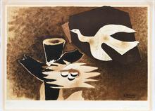 Georges BRAQUE - Estampe-Multiple - L'oiseau et son nid