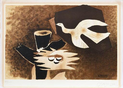 Georges BRAQUE - Print-Multiple - L'oiseau et son nid