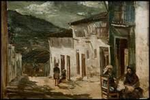 Joaquín SOROLLA Y BASTIDA - Pintura - Vista de calle