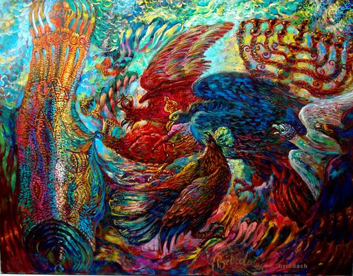 Victor BRINDATCH - Peinture - predators.Jackals