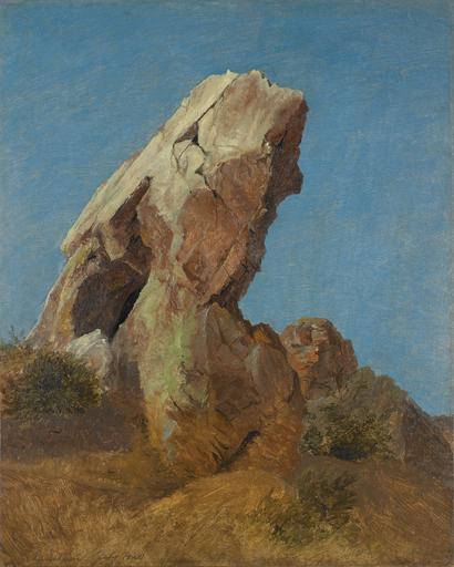 Caspar SCHEUREN - Painting - Felsenstudie.